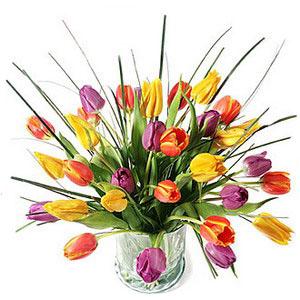 Букет из тюльпанов Хорошее настроение